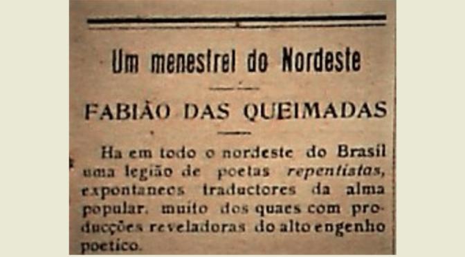 NO NATAL DE 1923, A CAPITAL CONHECEU FABIÃO DAS QUEIMADAS