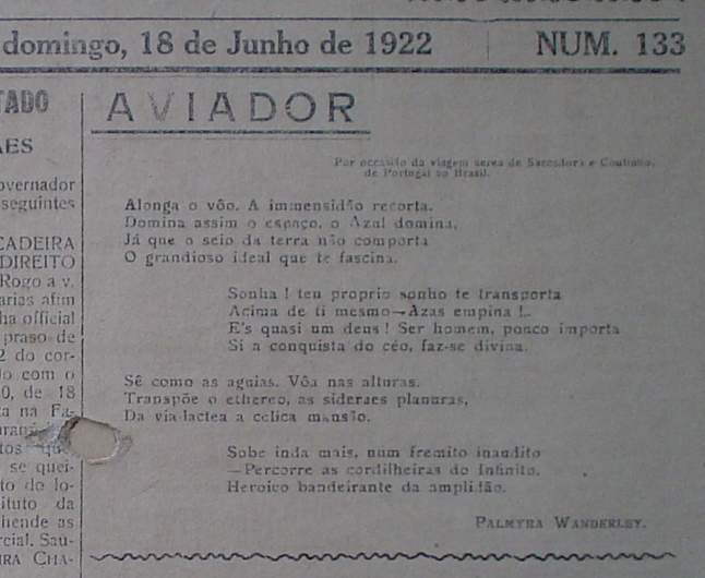Verso de Palmyra Wanderley sobre o aviador,18-06-1928-1