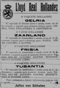 Propaganda do Lloyd Holandês publicada em Natal no ano de 1914.