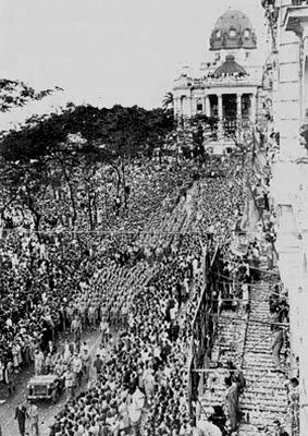 Truppe brasiliane nella parata per la vittoria a Rio de Janeiro nel 1945