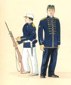 Uniforme de l'armée brésilienne en 1890 - Source - http://bicentenario.aman.ensino.eb.br
