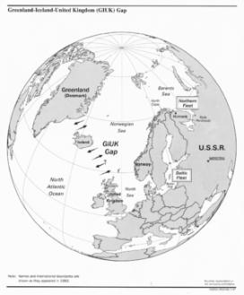 Em locis como os mostrados na imagem, foram instalados estações do sistema SOSUS para detectar submarinos soviéticos