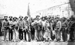 Soldats de l'armée brésilienne du 38e bataillon d'infanterie pendant la Guerre de Canudos