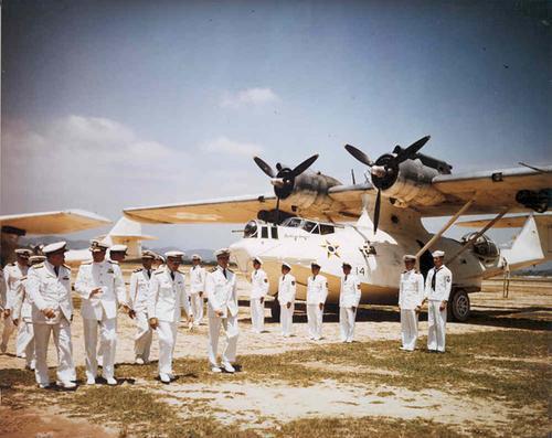 Un idrovolante Consolidated PBY Catalina utilizzato dai brasiliani per proteggere le proprie coste
