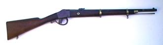 Fusil utilisé par l'armée brésilienne dans la guerre, le modèle M1873 Comblain - Source - http://www.militaryrifles.com