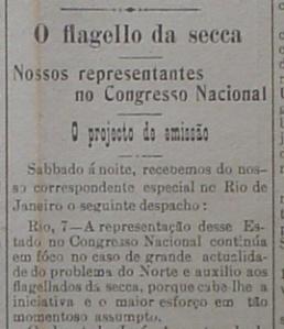 Jornal natalense A República, edição de 6 de agosto de 1915.