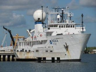 "Navio de pesquisas ""Okeanos Explorer"", pertencente ao NOAA"