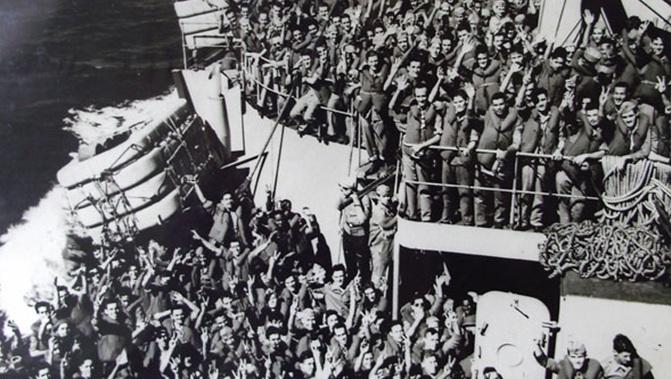 Soldati brasiliani nel loro cammino verso la guerra in Europa - http://www.portalfeb.com.br/longa-jornada-com-a-feb-na-italia-capitulo-8