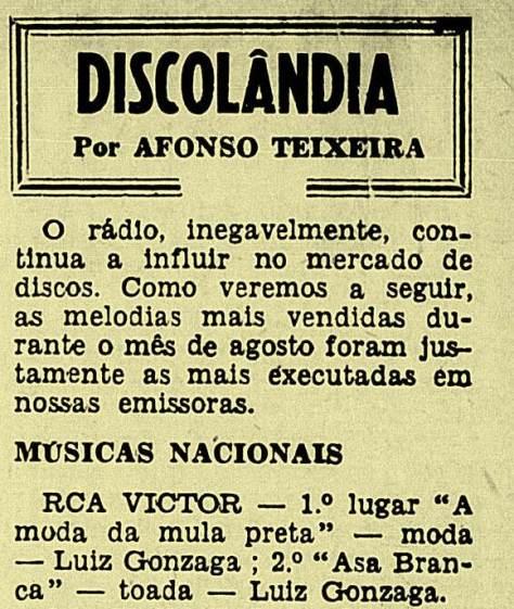 Outubro de 1948. A conceituda