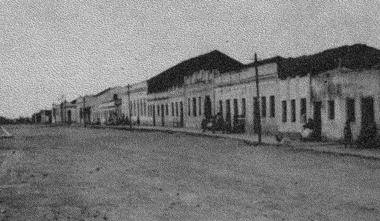 Antiga Rua Padre João Batista, na Exu da década de 1950