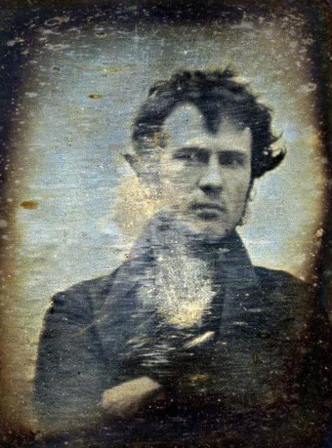 O primeiro ser humano fotografado