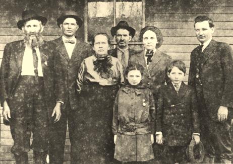 A família Hatfield após o fim da luta