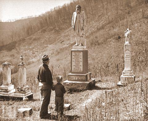 Túmulo de William Hatfield na década de 1940