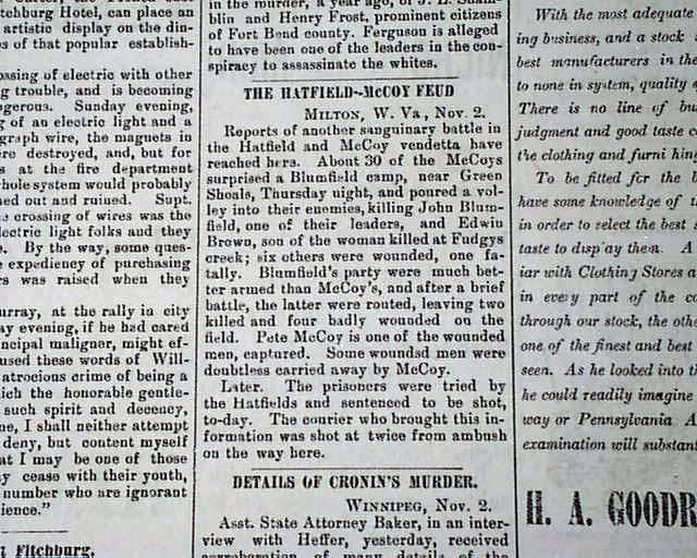 Nota sobre a luta em um jornal americano