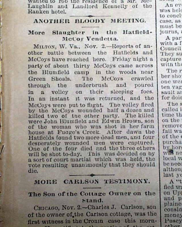 Outra nota de jornal sobre a luta