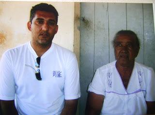 João e Jovelina Barbosa,  irmã do cangaceiro Azulão, povoado São Francisco