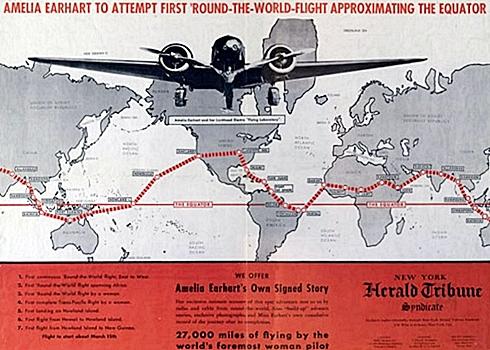 Rota do voo em 1937