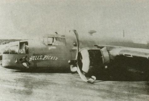 B-25 danificada na Pista de Parnamirim Field