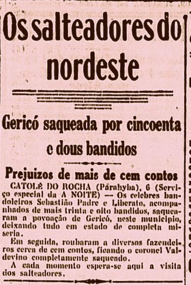 Nota sobre o ataque a Jericó, Paraíba
