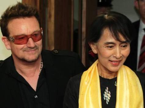 """Aung San Suu Kyi é a principal ativista pela redemocratização de Myanmar. Já foi agraciada com o Prêmio Nobel e até Bono, da banda U2 compôs a música """"Walk On"""" em sua homenagem."""