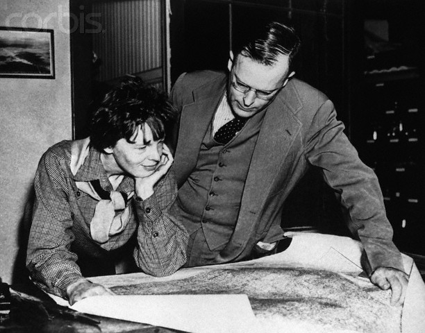 Amelia Earhart e George Putnam em maio de 1928