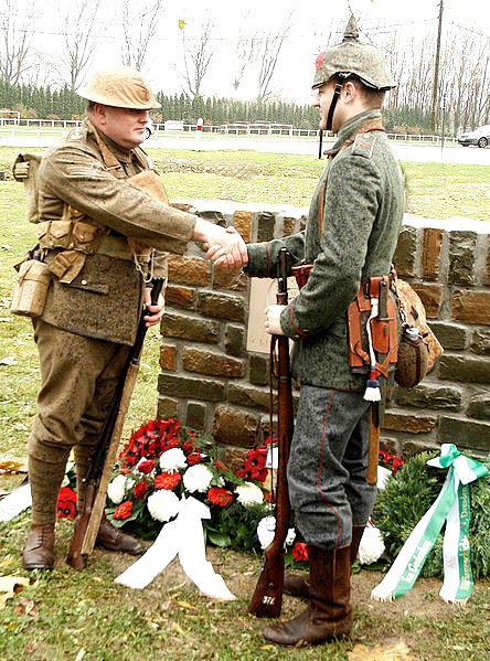 Recente cerimônia para comemorar o Milagre do Natal de 1914, que no próximo ano completa seu centenário