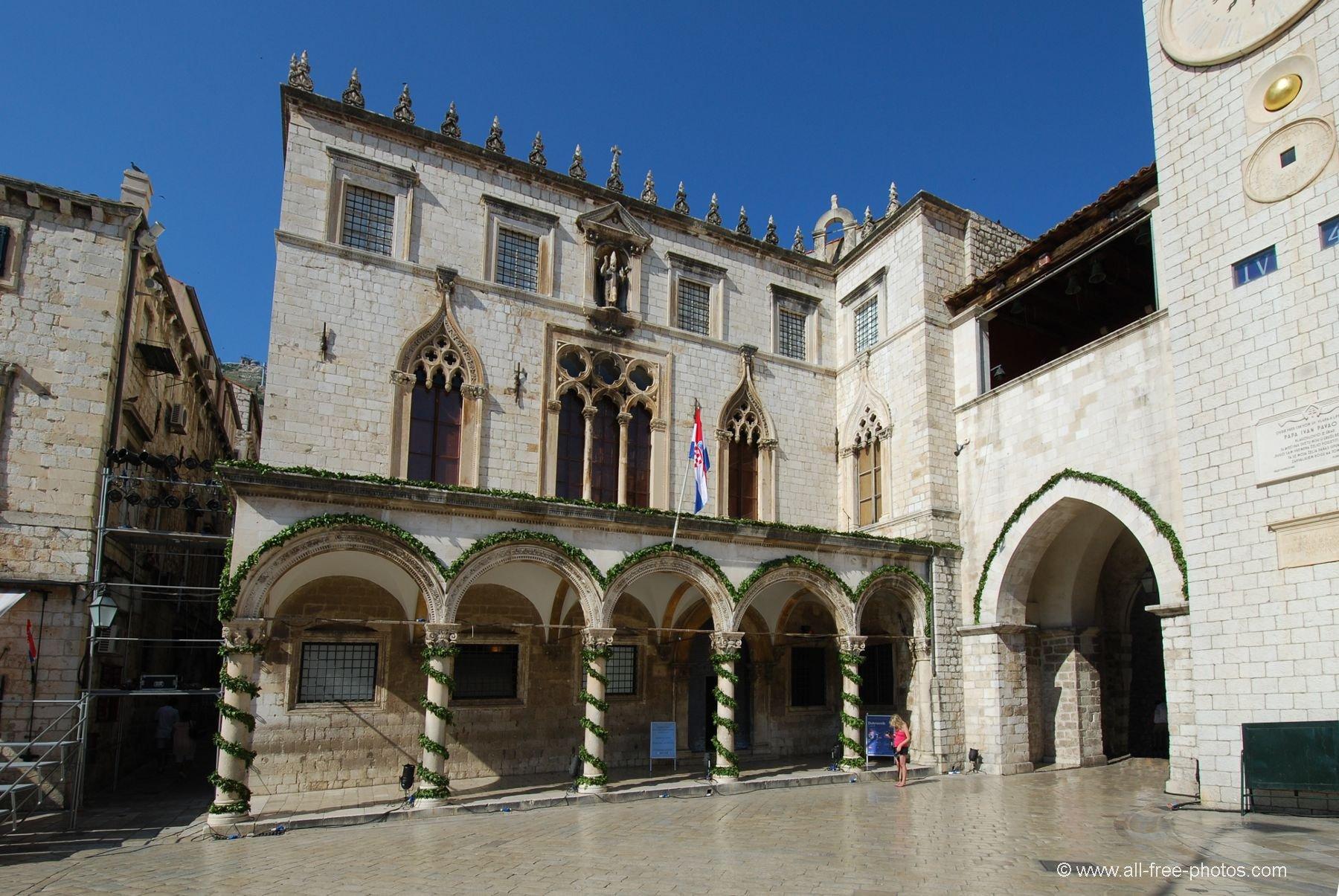 Palacio Sponza - Dubrovnik - Croácia - onde fica o arquivo.