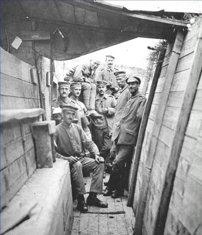 Uma trincheira alemã