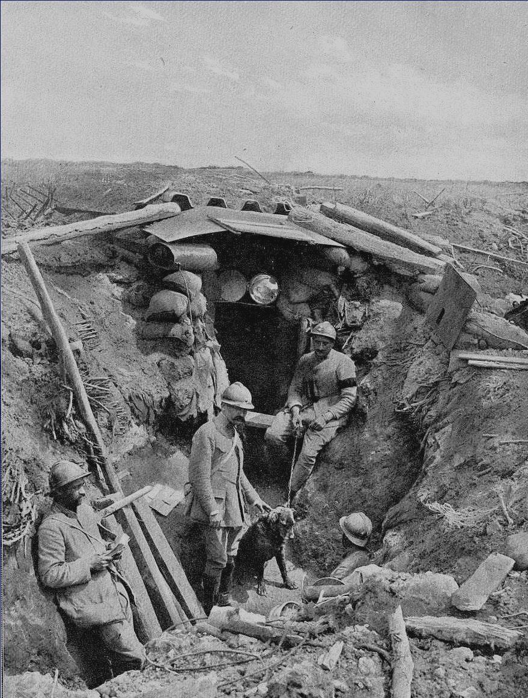 A espera em uma trincheira francesa