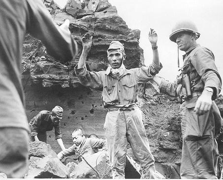 Exército japonês sendo derrotado.