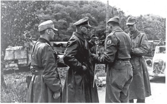 Militar alemão detido por brasileiros da FEB em 1945.