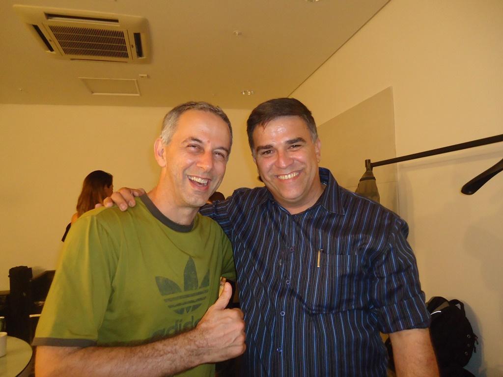João Barone o autor deste blog, após o último show dos Paralamas do Sucesso na capital potiguar