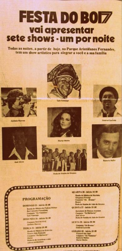 E olha as atrações em 1977. Só gente boa e de qualidade!