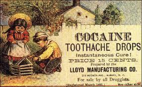Antiga propaganda americana de cocaína,associada a infãncias