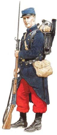 Legionário de 2ª Classe do Batalhão C do 2° Regimento de Marcha em outubro de 1914 - Fonte - http://www.tropasdeelite.xpg.com.br/