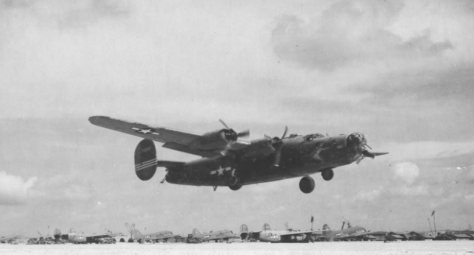 Um B-24 decolando, visão comum em Parnamirim Field