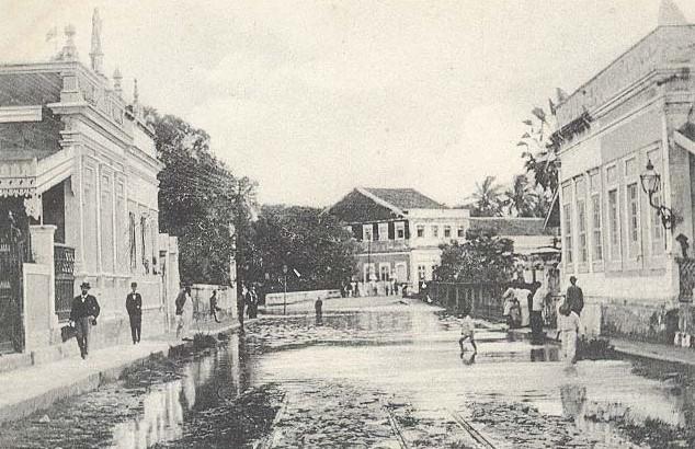 Uma enchente do Capibaribe, na Madalena.