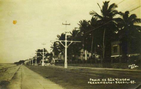 Praia de Boa Viagem na década de 1920.