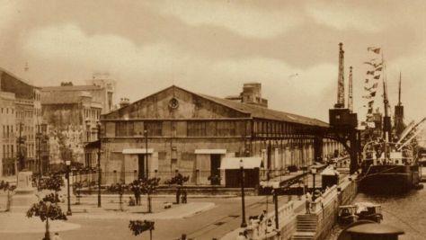Uma outra vitra das docas de Recife, provavelmente entre a década de 1920 e 1930.