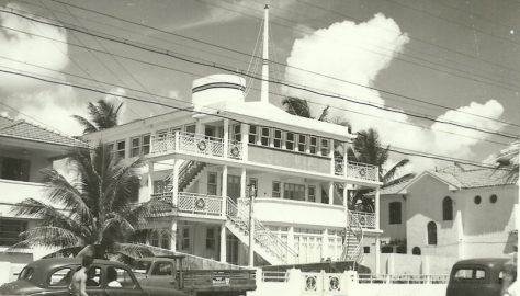Sei que esta casa em formato de um navio ficava em Boa Viagem.