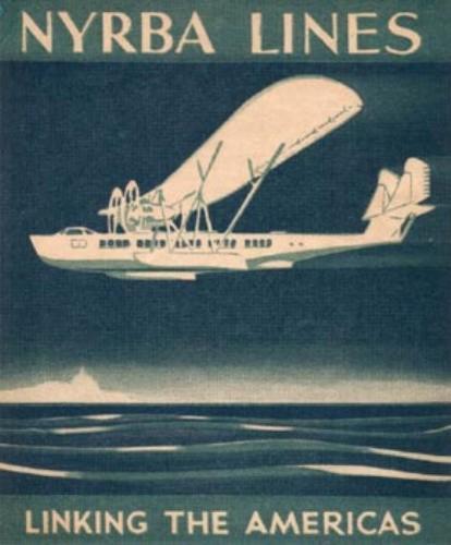Um cartaz informativo da Nyrba Lines - Fonte - Coleção do autor