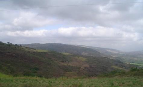 A região de Santa Cruz da Baixa Verde, a partir da PE-365, que liga Triunfo a Serra Talhada.