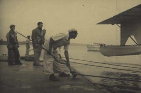 Flutuante da Panair, onde os hidroaviões eram amarrados quando no rio