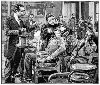Gabinete de uma odontóloga no final do séc. XIX, em Paris - Fonte - www.sciencephoto.com