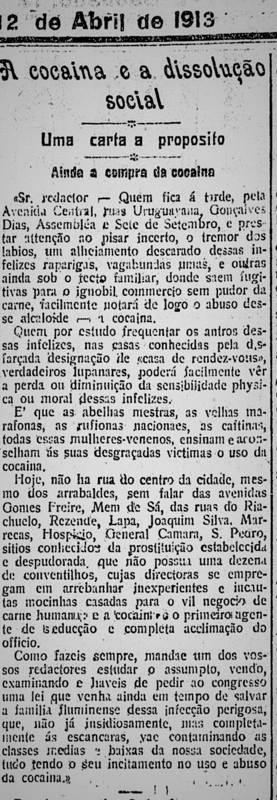 Uma carta denúncia de 1913, incomodamente atual