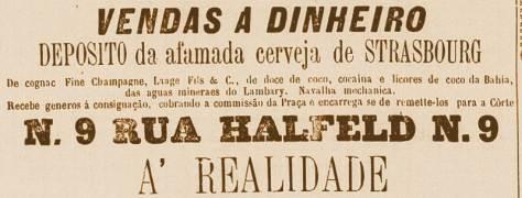 Cocaína vendida como bebida em Juiz de Fora - MG, na década de 1880