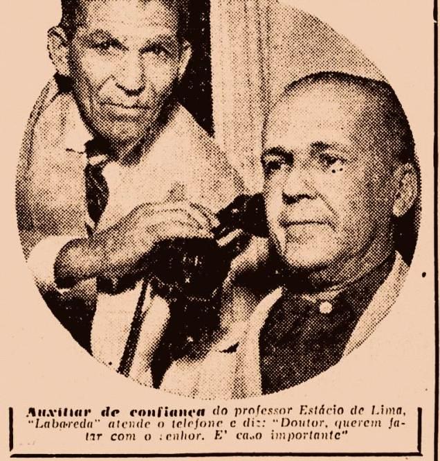 Ângelo Roque e o Professor Estácio de Lima