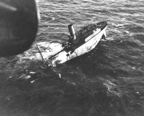 Navios de carga eram as vítimas principais dos submarinos alemães.