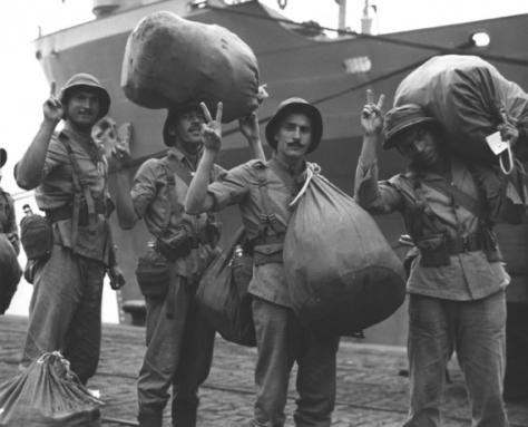 Embarque dos pracinha para a guerra - Fonte - http://infograficos.estadao.com.br/galerias/gerar/4144