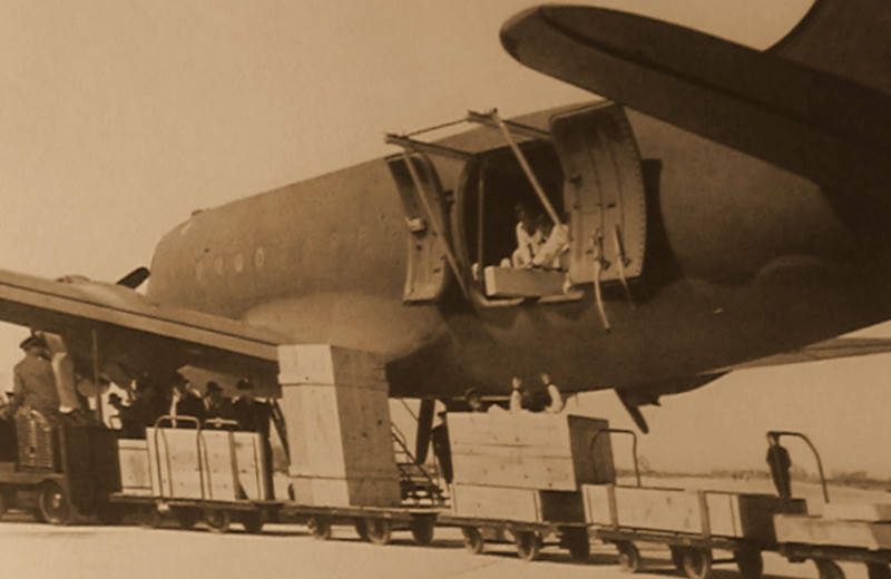 Foto representativa da grande função de Parnamirim Field-O transporte aéreo